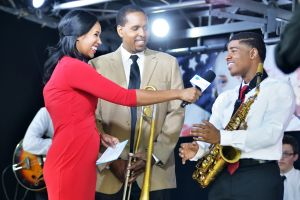 Sheba Turk with Jazz at Lincoln Center after their live performance. Photo credit: WNET