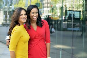 Host and mentor Soledad O'Brien with host and mentee Sheba Turk. Photo credit: WNET.