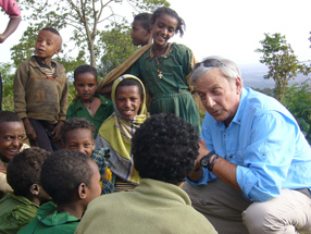 Wide Angle host Aaron Brown in Ethiopia