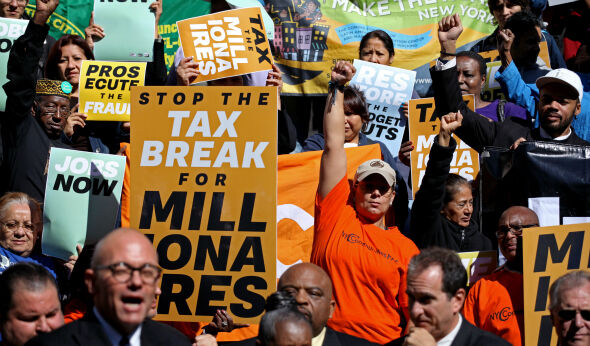 Wall Street Protests Renew Calls for State Millionaires' Tax
