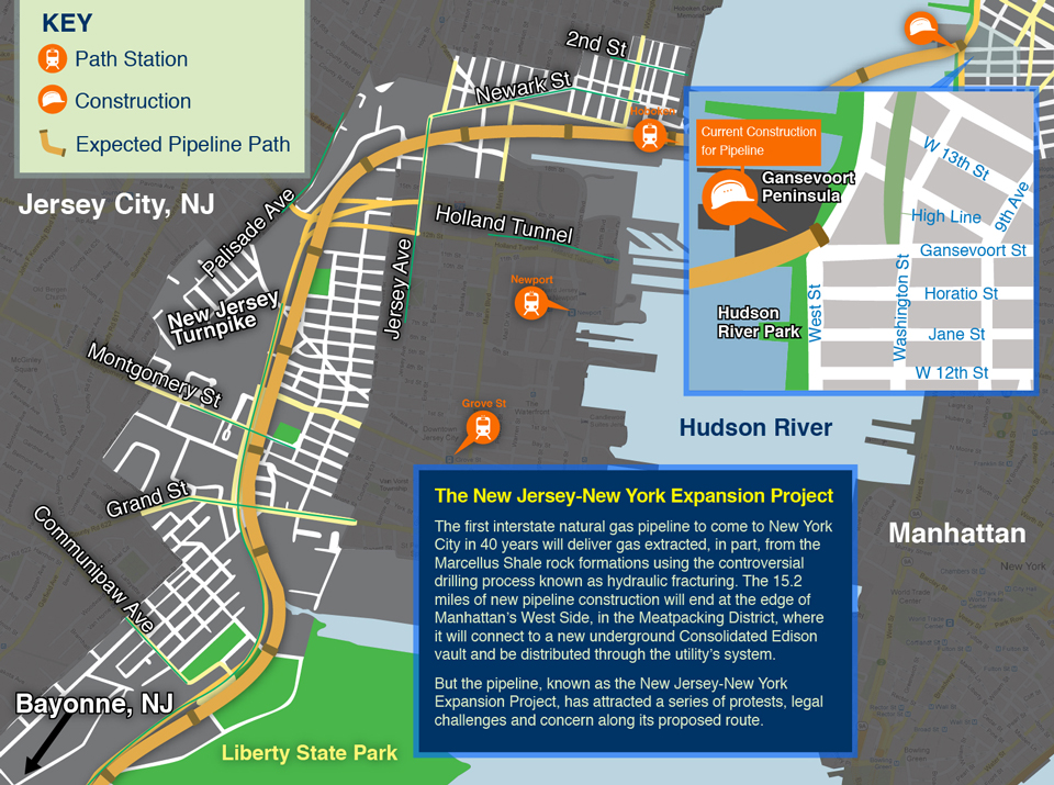New Jersey - New York Expansion Project gas pipeline