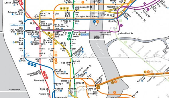 J Train Subway Map