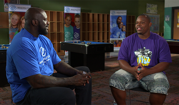 Student Shares Academic Success Story With Basketball Legend Shaq