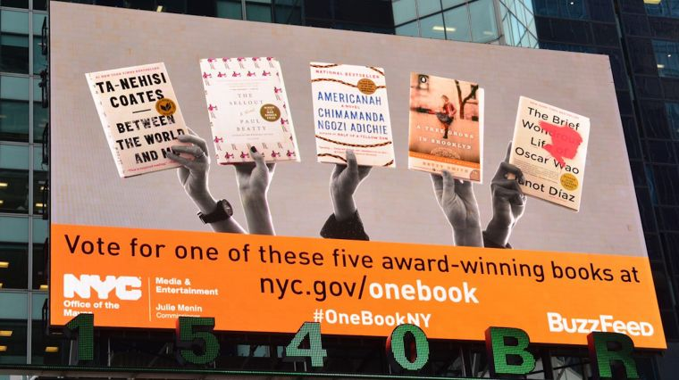 "February 23, 2017: ""ONE BOOK, ONE NEW YORK"""