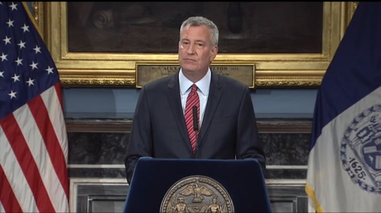 March 16, 2017:  DE BLASIO DODGES CHARGES