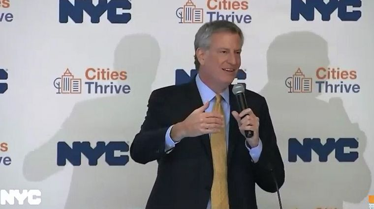 DE BLASIO 2.0 AND STATE OF THE STATE