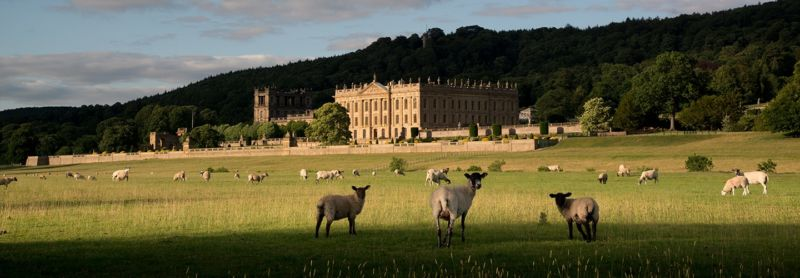Chatsworth House in Derbyshire, Englandsh