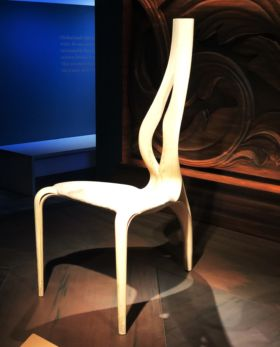 Enignum chairs by Joseph Walsh from the Devonshire Collection at Chatsworth House