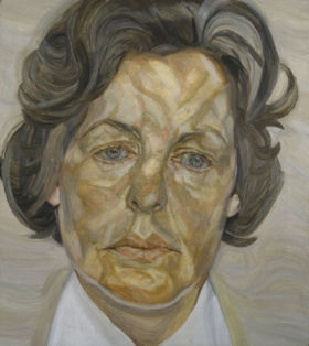 painting of the 11th Duchess of Devonshire by Lucian Freud