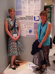 Kara Van Malssen (NYU) and Karen Cariani (WGBH) represent the PDPTV project at IASA 2009
