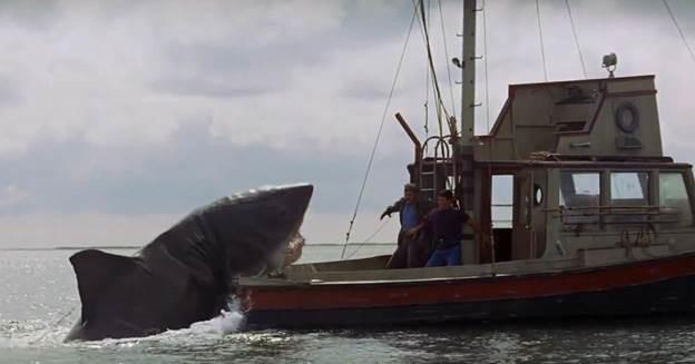 Scene from Steven Spielberg's Jaws