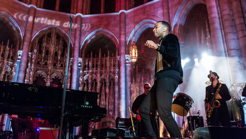 John Legend in 2017 Live from The Artists Den, filmed for PBS at Riverside Church, NYC.