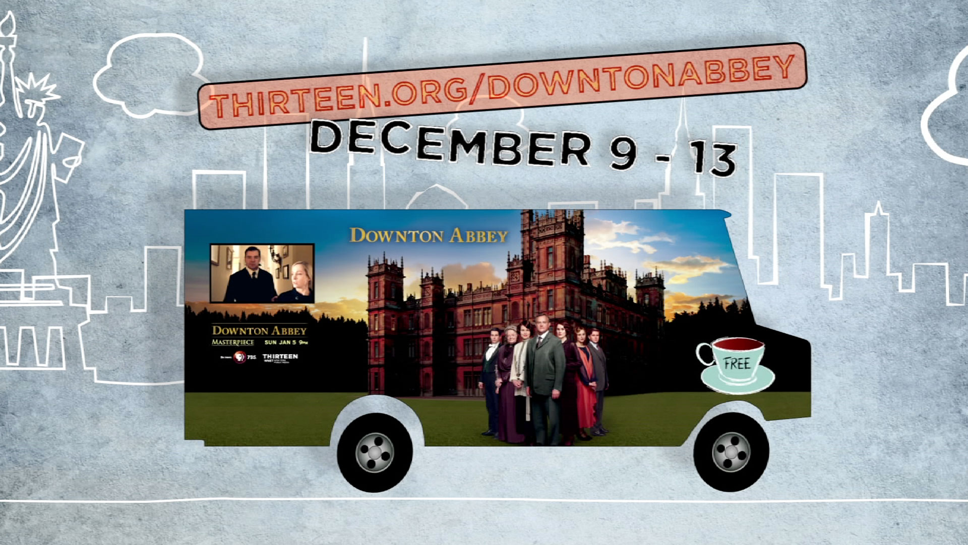 downton abbey tea truck in nyc: locations & pictures