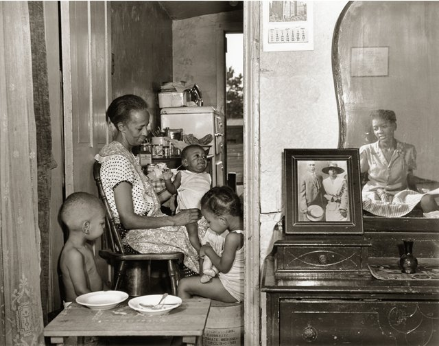 Ella Watson and her family, by Gordon Parks