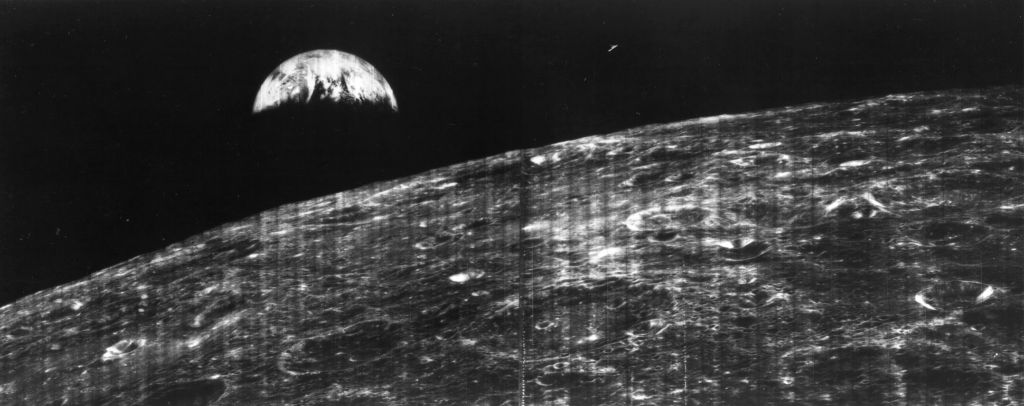 Shot from Lunar Orbiter 1 in 1966