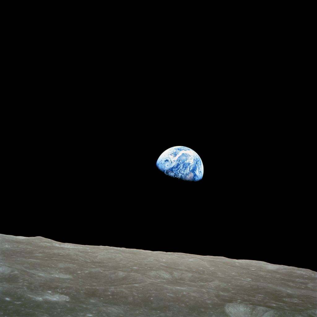 Photographed in 1968 from the Apollo 8 lunar orbiter