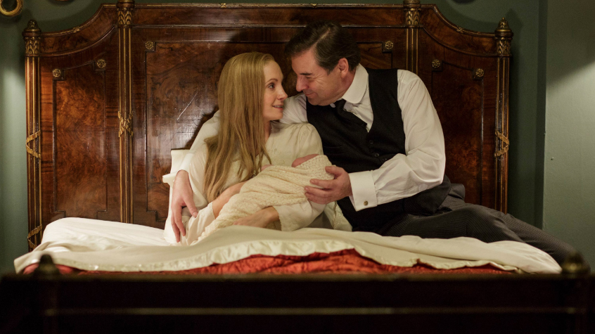 Anna (Joanna Froggatt) and Bates (Brendan Coyle) welcomed a baby in the final episode of Downton Abbey.
