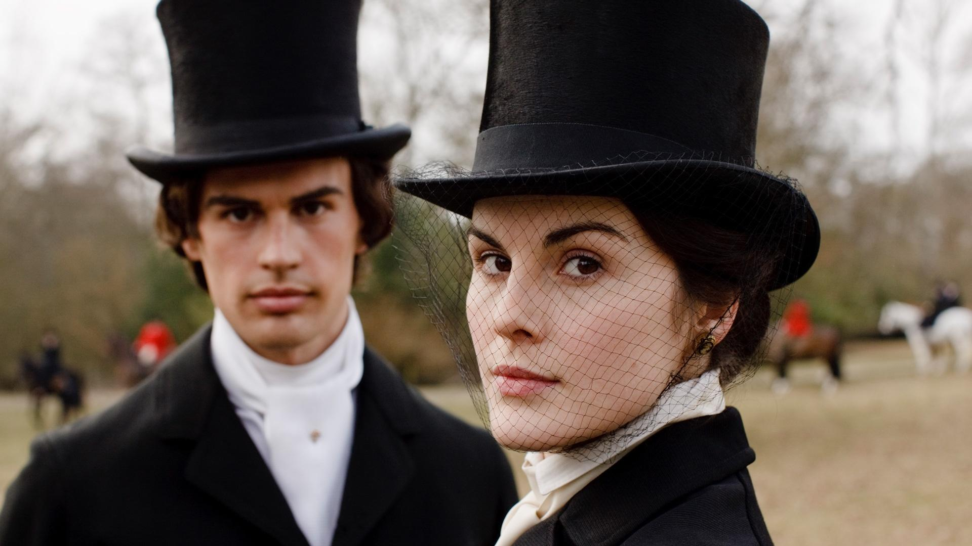 Mr. Pamuk and Lady Mary in Downton Abbey Season 1, Episode 3, before his unexpected death.