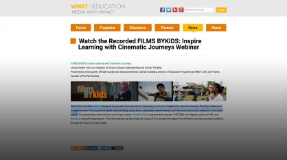 FILMS BYKIDS: Inspire Learning with Cinematic Journeys Webinar