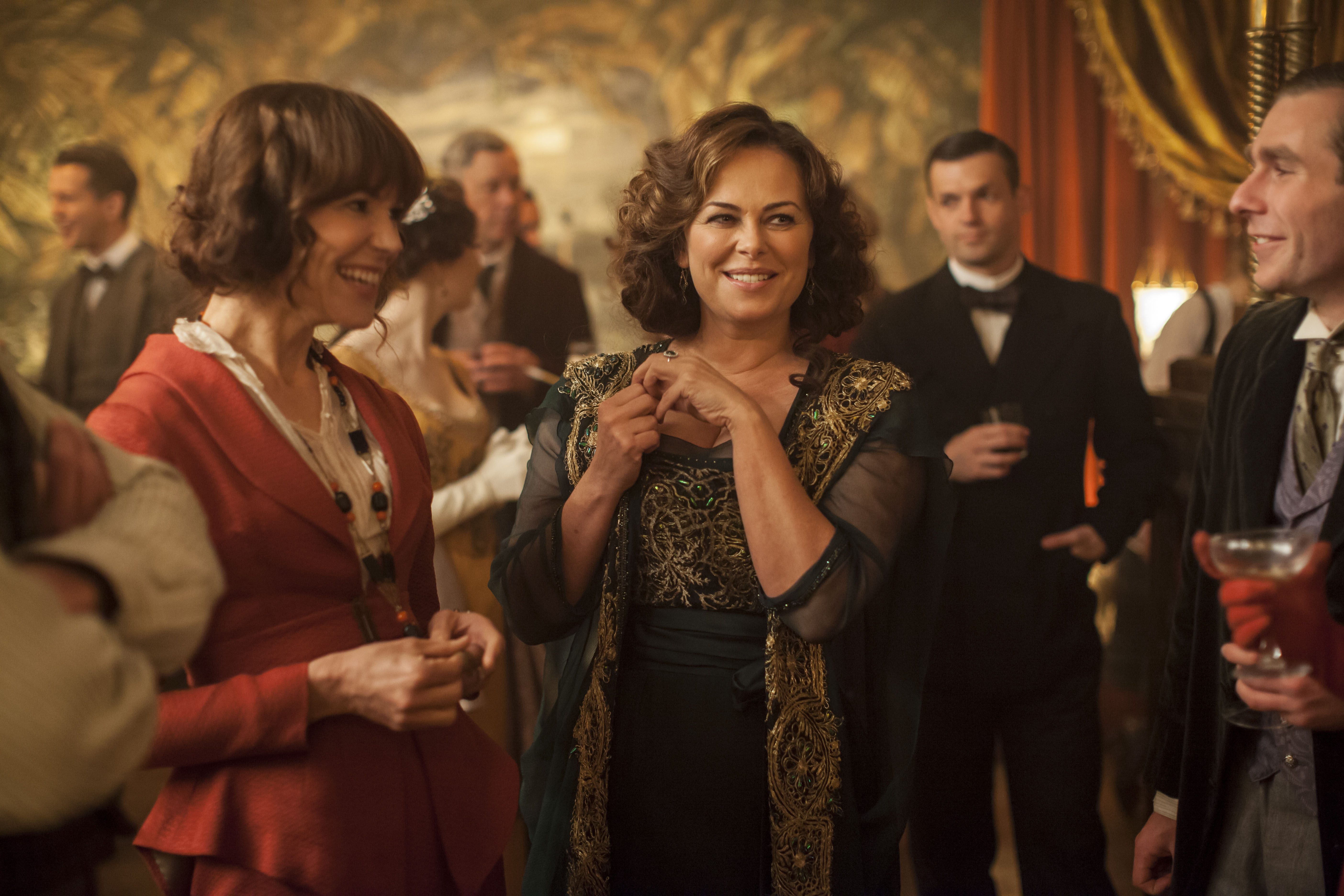 THE PERILS OF DELPHINE: The character of Delphine Day (Polly Walker, right) was inspired by novelist Elinor Glyn, author of scandalous women's fiction. Photo courtesy of ITV Studios for MASTERPIECE