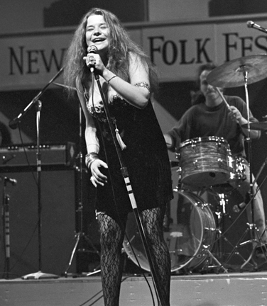 Janis Joplin at the Newport Folk Festival, 1968. Photo by Bruce Jackson. Used with permission.