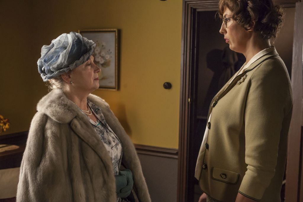LADY BROWNE (Cheryl Campbell) and CHUMMY (Miranda Hart)