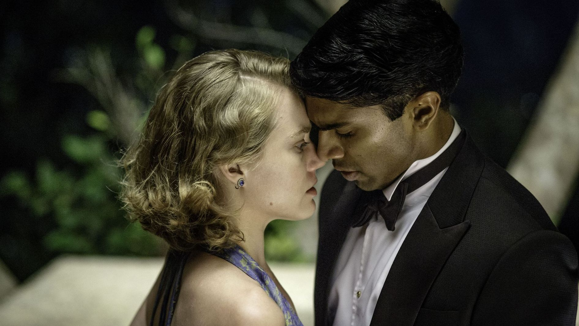 Jemima West (l) as Alice Whelan and Nikesh Patel as Aafrin Dalal