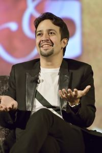 Lin-Manuel Miranda in discussion after screening of Great Performances: Hamilton's America at the United Palace Theater