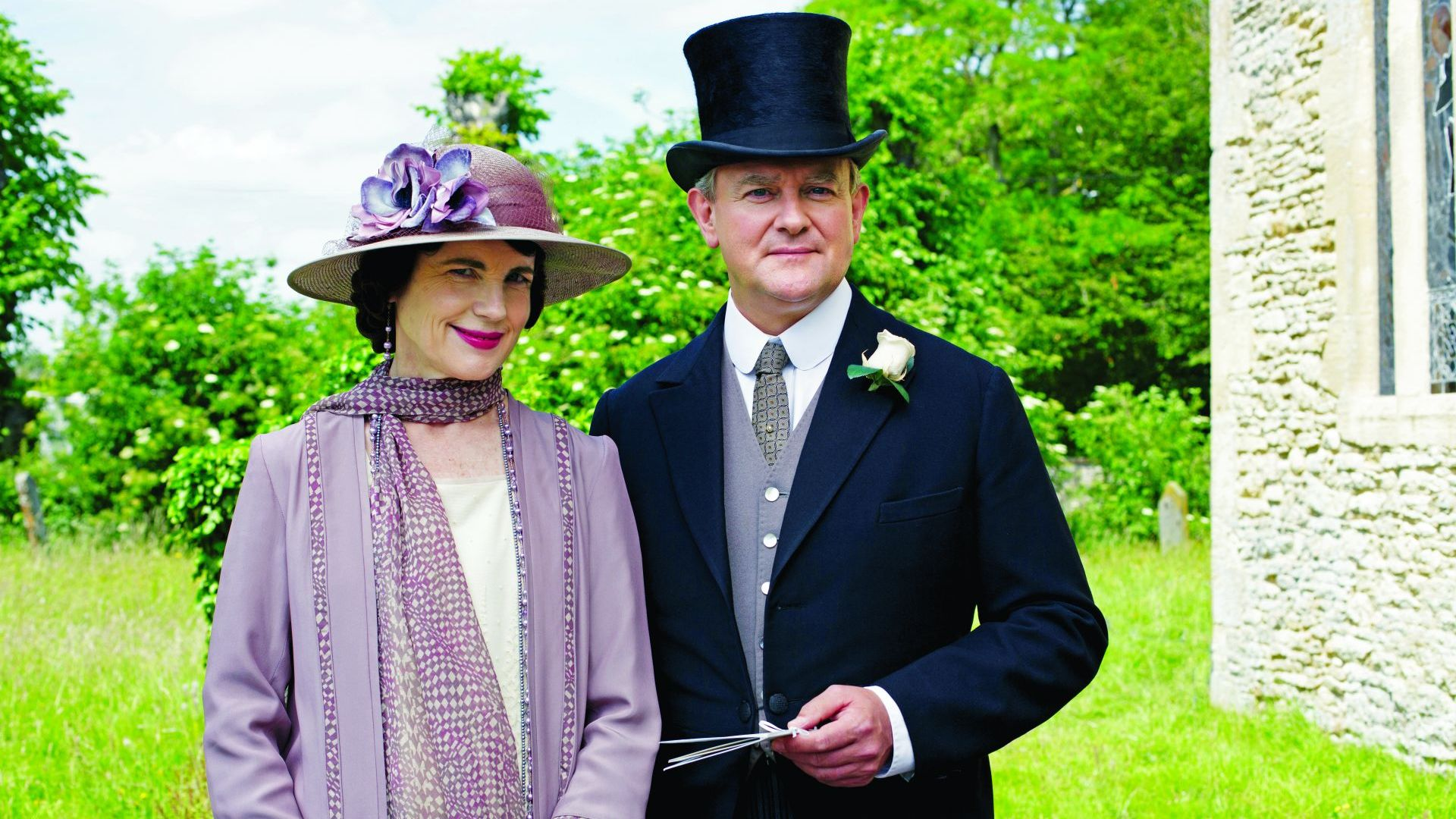 ELIZABETH MCGOVERN as Cora, Countess of Grantham and HUGH BONNEVILLE as Robert, Earl of Grantham, are with us from Season 1 through Season 6. Courtesy of © Carnival Film and Television Limited for MASTERPIECE