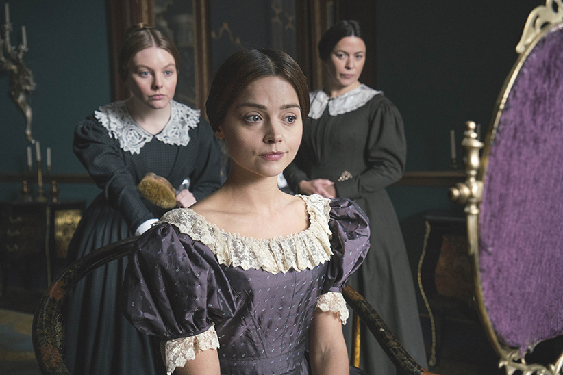 "Victoria On MASTERPIECE on PBS *SPECIAL TWO-HOUR PREMIERE* SUNDAY, JANUARY 15, 2017 AT 9PM ET Continues Sundays, January 22 – February 19, 2017 at 9pm ET Season Finale on Sunday, March 5 at 9pm ET Episode One – ""Doll 123"" Sunday, January 15 at 9pm ET As a new queen, the young Victoria struggles to take charge amid plots to manipulate her. Victoria's friendship with the prime minister leads to a crisis in Parliament. Shown from left to right: NELL HUDSON (Skerrett), EVE MYLES (Mrs Jenkins) and JENNA COLEMAN as Victoria (C) ITV Plc"