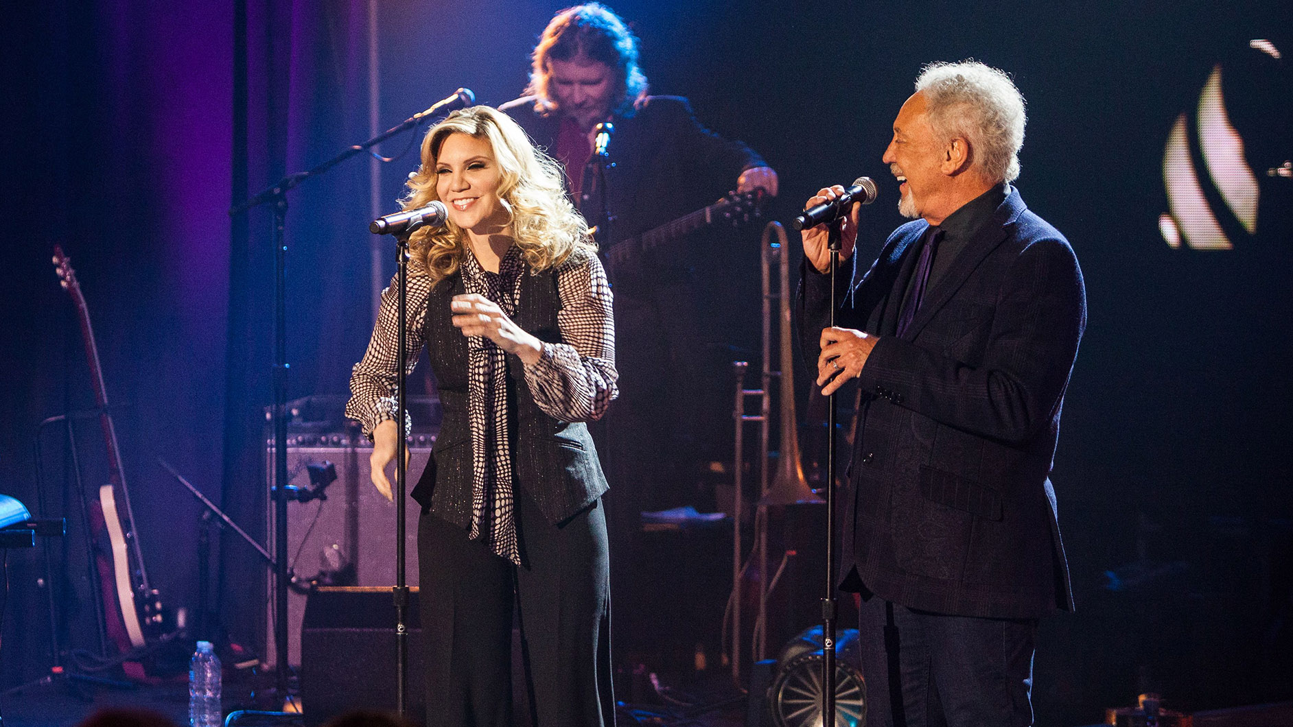 Special guest Alison Krauss joins Tom Jones in Tom Jones: A Sound stage Special Event. Photo courtesy Raney Images.