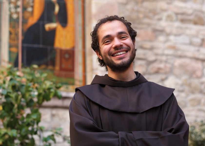 Friar Alessandro, 34, has multiple missions and was conflicted in his past. His journey to his final vow, was a precarious soul search, like St. Francis himself.