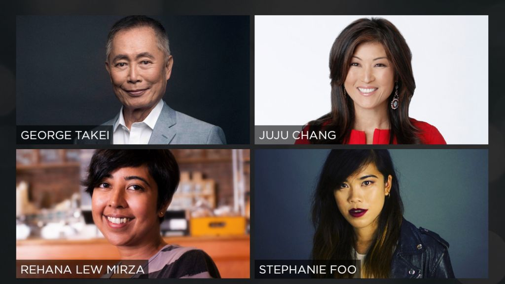 Juju Chang (ABC'S Nightline), actor George Takei, Stephanie Foo (This American Life) & playwright Rehana Lew Mirza discuss the challenges Asian Americans face working in the media and entertainment fields.