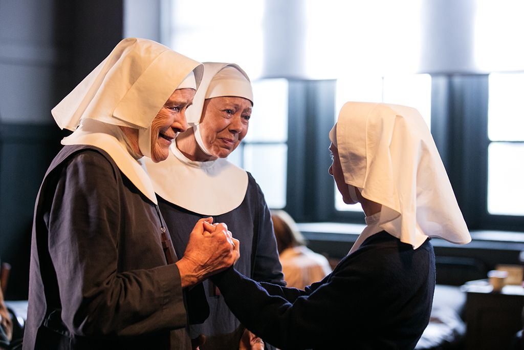 Judy Parfitt as Sister Monica Joan, Jenny Agutter as Sister Julienne, Bryony Hannah as Sister Mary Cynthia