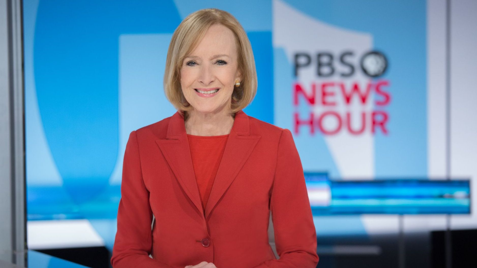 Judy Woodruff, host of PBS NewsHour.
