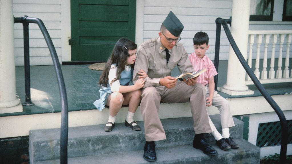From THE VIETNAM WAR Ep. 7 - The Veneer of Civilization (June 1968-May 1969) on PBS. Denton (Mogie) in uniform, with siblings Candy and Randy, 1965.
