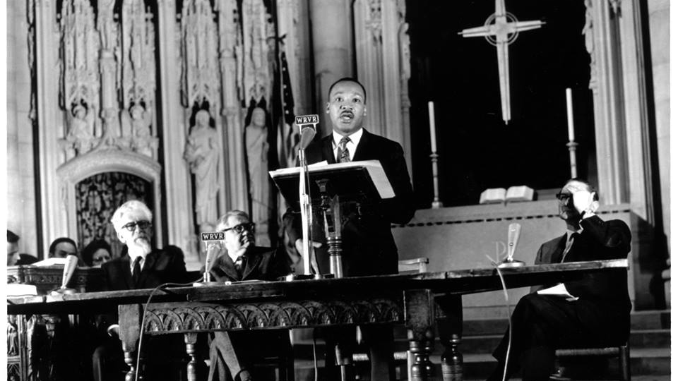 Martin Luther King, Jr., giving his speech Beyond Vietnam: A Time to Break Silence