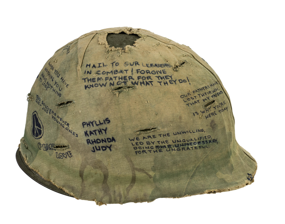 Hamburger Hill Helmet 1969