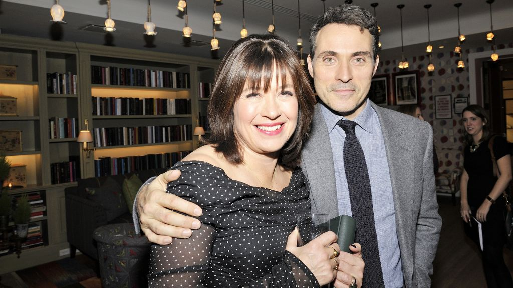 Series Writer and Creator Daisy Goodwin and actor Rufus Sewell (Lord Melbourne) at the Victoria Season 2 premiere reception in NYC
