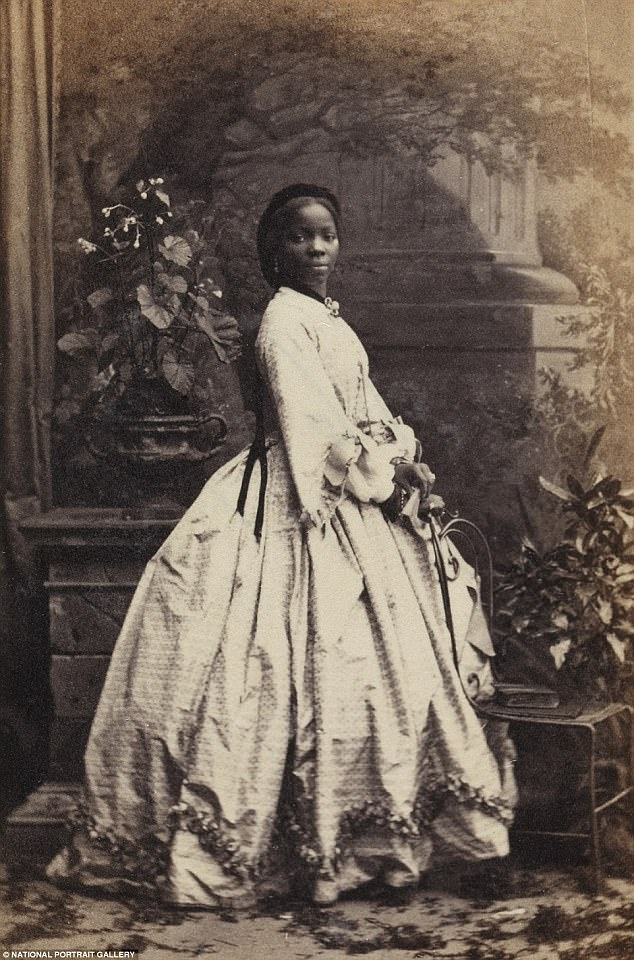 Sarah Forbes Bonetta in a portrait taken December 1861 by Camille Silvy (1835-1910). National Gallery collection.