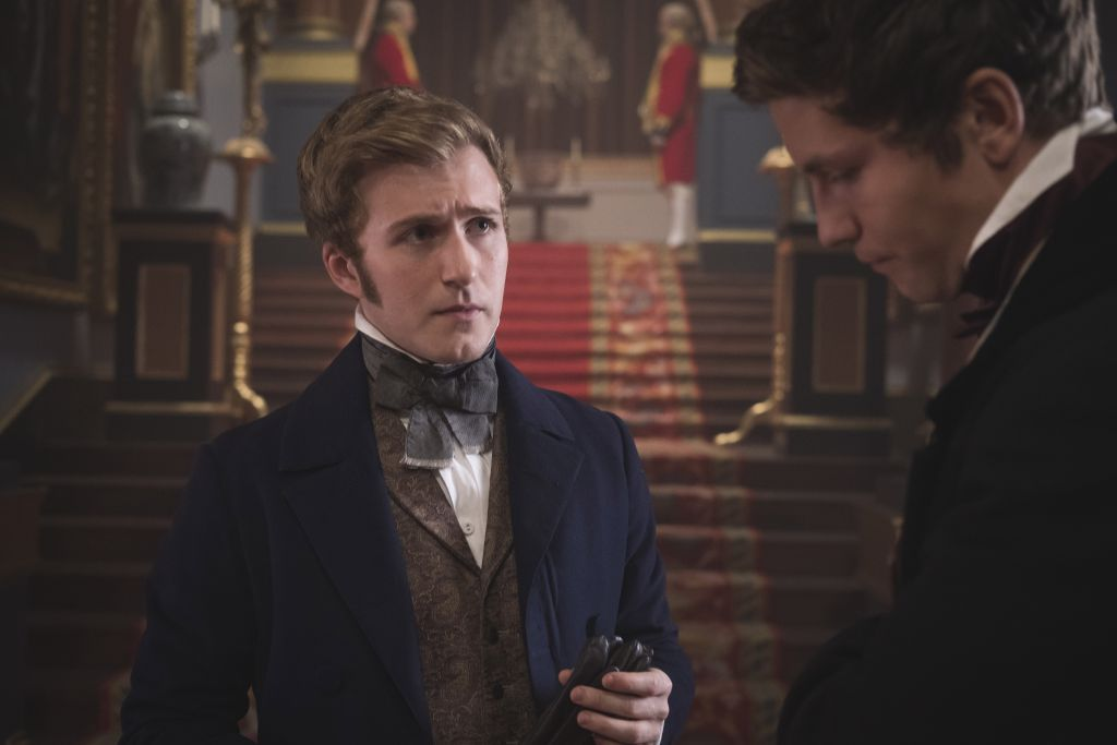 """Jordan Waller as Lord Alfred Paget and Leo Suter as Edward Drummond as seen in Victoria, Season 2 Episode 4 - """"Faith, Hope & Charity"""". ©ITVStudios2017."""