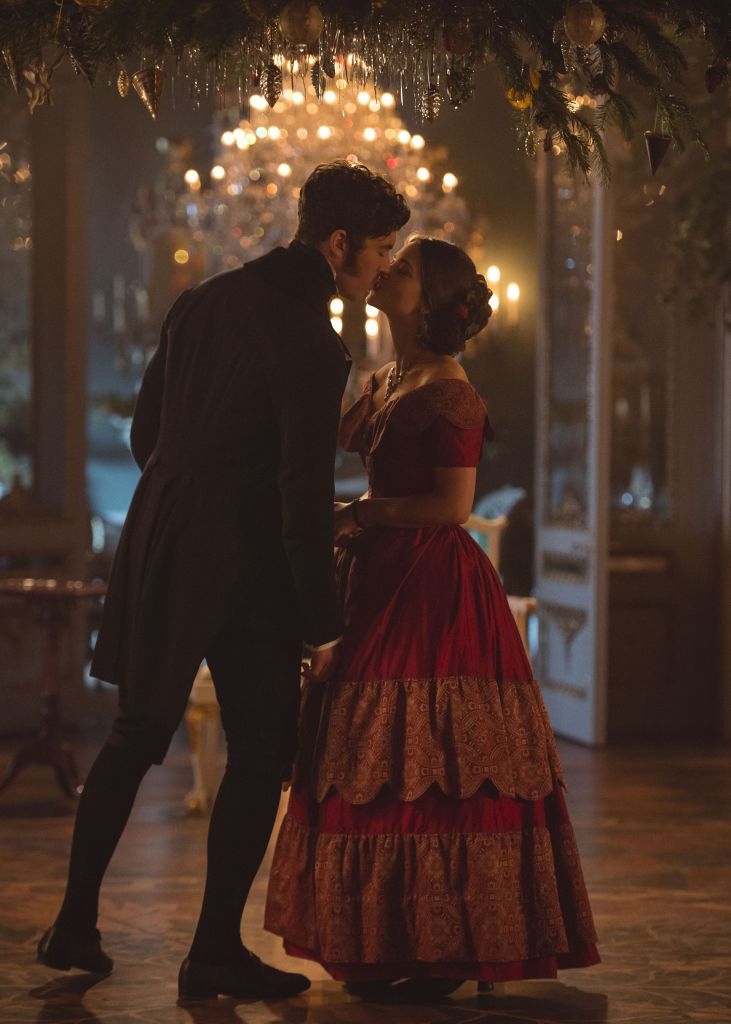 Tom Hughes as Albert and Jenna Coleman as Victoria.