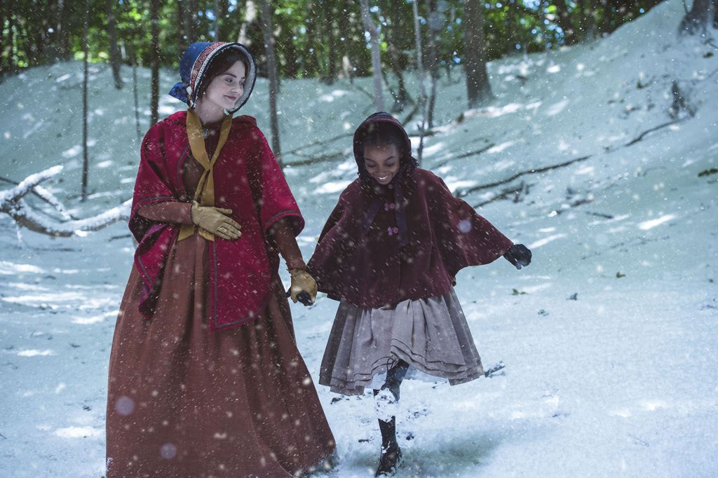 Left to right: Jenna Coleman as Victoria and Zaris-Angel Hator as Sarah.