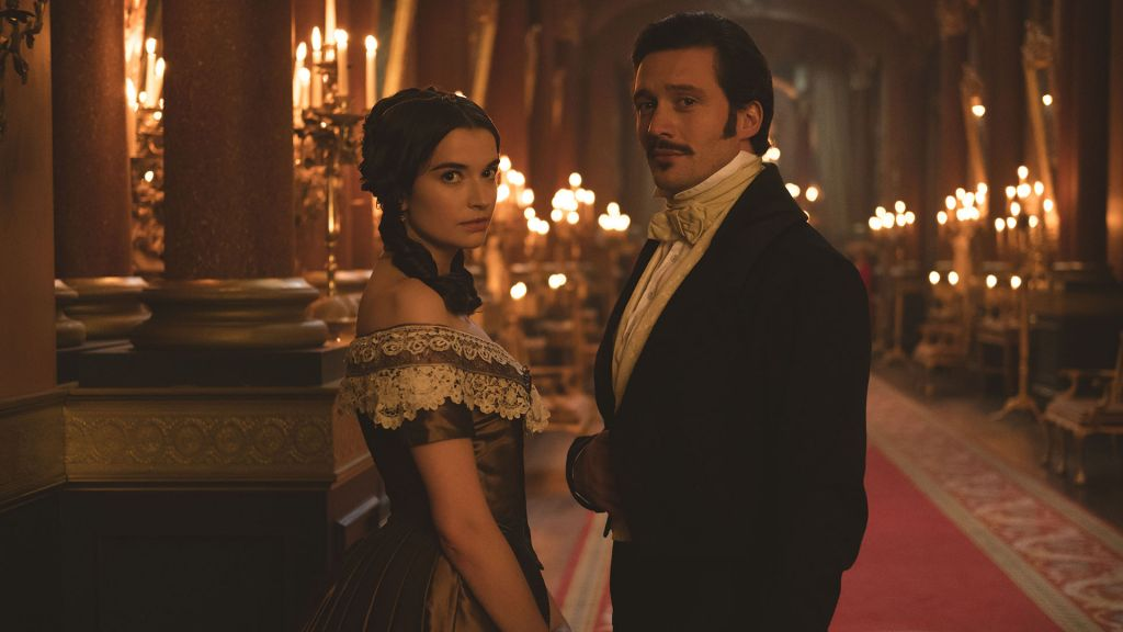 Left to right: Margaret Clunie as Harriet and David Oakes as Ernest (Ernie) in Victoria on Masterpiece