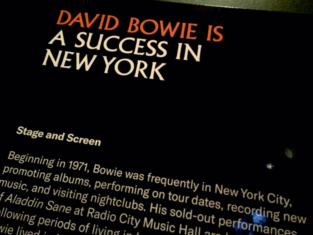 David Bowie Is exhibition at Brooklyn Museum
