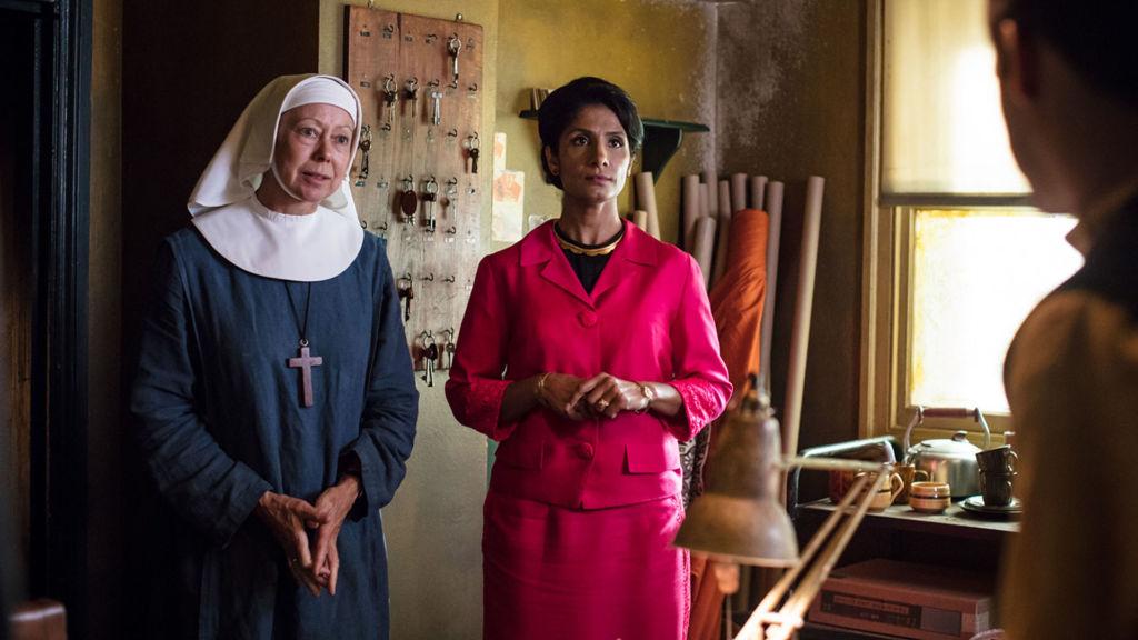 Mumtaz Gani (BALVINDER SOPAL), Sister Julienne (JENNY AGUTTER). Photo: Sophie Mutevelian