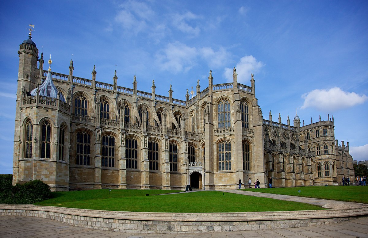 St. George's Chapel at Windsor Castle grounds, site of royal weddings.