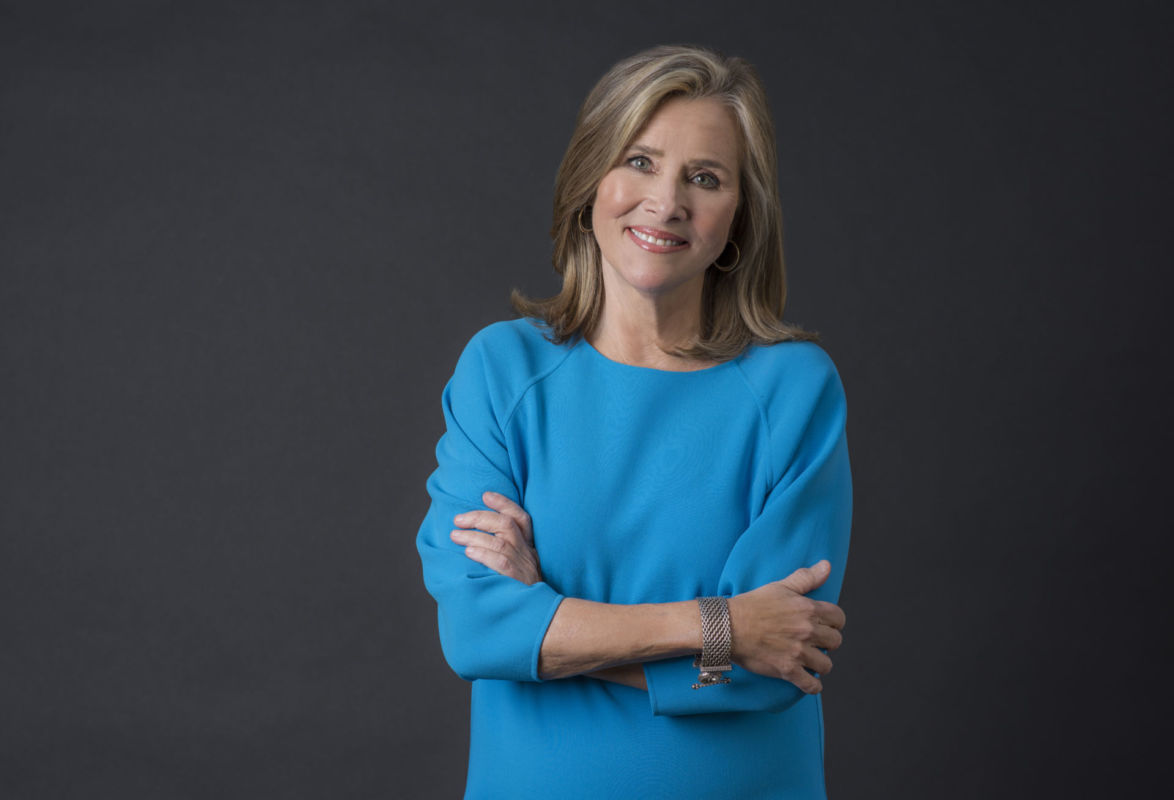 Meredith Vieira, host of The Royal Wedding Watch and The Great American Read