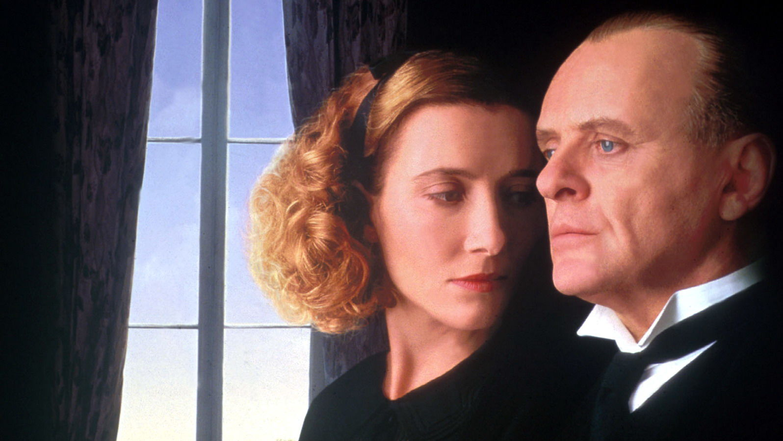 Emma Thompson and Anthony Hopkins in promotional image for the film Remains of the Day