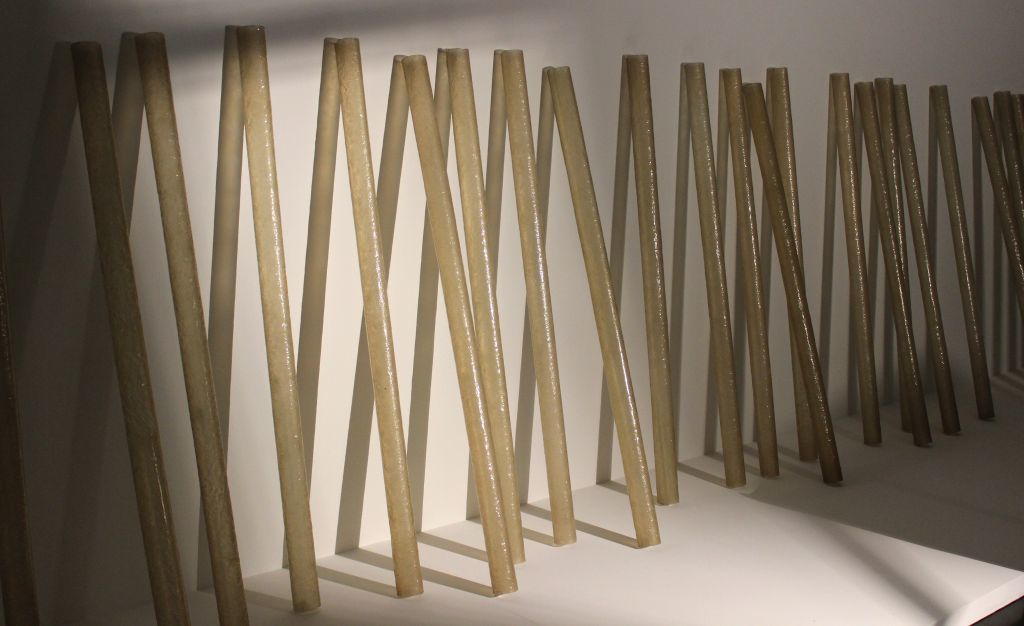 """Accretion"" by Eva Hesse."